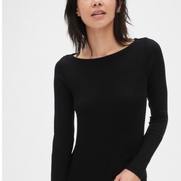 H&M Black Fitted Long Sleeve T-Shirt